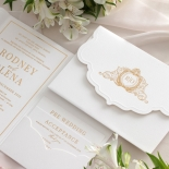 Mesmerising Solid White Pocket - Wedding Invitations - WPSP-01 - 183841
