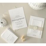 Blind Letterpress Crest with Foil - Wedding Invitations - WP-IC55-BLBF-01 - 184306