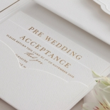 Mesmerising Solid White Pocket - Wedding Invitations - WPSP-01 - 183844