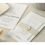 Blind Letterpress Crest with Foil - Wedding Invitations - WP-IC55-BLBF-01 - 184307