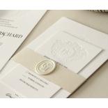Blind Letterpress Crest with Foil - Wedding Invitations - WP-IC55-BLBF-01 - 184308