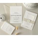 Blind Letterpress Crest with Foil - Wedding Invitations - WP-IC55-BLBF-01 - 184309