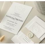 Blind Letterpress Crest with Foil - Wedding Invitations - WP-IC55-BLBF-01 - 184310
