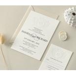 Blind Letterpress Crest with Foil - Wedding Invitations - WP-IC55-BLBF-01 - 184312