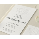 Blind Letterpress Crest with Foil - Wedding Invitations - WP-IC55-BLBF-01 - 184313