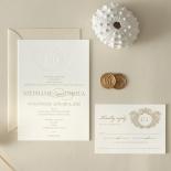 Letterpress Crest with Foil - Wedding Invitations - WP-IC55-BLGG-01 - 184315