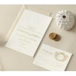 Letterpress Crest with Foil - Wedding Invitations - WP-IC55-BLGG-01 - 184316
