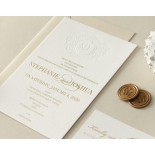 Letterpress Crest with Foil - Wedding Invitations - WP-IC55-BLGG-01 - 184317