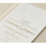 Letterpress Crest with Foil - Wedding Invitations - WP-IC55-BLGG-01 - 184318