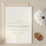 Letterpress Crest with Foil - Wedding Invitations - WP-IC55-BLGG-01 - 184319