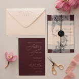 Scarlet Foil Stamped Glamour - Wedding Invitations - WP304GG - 183760