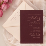 Scarlet Foil Stamped Glamour - Wedding Invitations - WP304GG - 183767