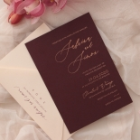 Scarlet Foil Stamped Glamour - Wedding Invitations - WP304GG - 183769