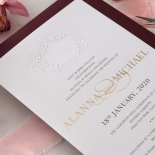 Embossed Crest with Foil & Print - Wedding Invitations - WP302GG-7613 - 183853