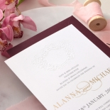 Embossed Crest with Foil & Print - Wedding Invitations - WP302GG-7613 - 183854