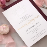 Embossed Crest with Foil & Print - Wedding Invitations - WP302GG-7613 - 183855