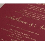 Burgundy Letterpress with Foil - Wedding Invitations - WP001CC-FB - 183875