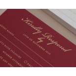 Burgundy Letterpress with Foil - Wedding Invitations - WP001CC-FB - 183878