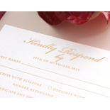 Burgundy Letterpress with Foil - Wedding Invitations - WP001CC-FB - 183879