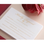 Burgundy Letterpress with Foil - Wedding Invitations - WP001CC-FB - 183880