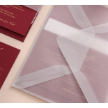 Burgundy Letterpress with Foil - Wedding Invitations - WP001FB-EB-7614 - 183871