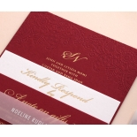 Burgundy Letterpress with Foil - Wedding Invitations - WP001FB-EB-7614 - 183872