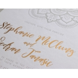 Colour Letterpress Henna with Foil - Wedding Invitations - WP001FB-EB-2 - 183978