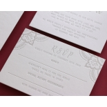 Colour Letterpress Henna with Foil - Wedding Invitations - WP001FB-EB-2 - 183979