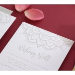 Colour Letterpress Henna with Foil - Wedding Invitations - WP001FB-EB-2 - 183980