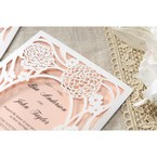 Pink Rustic Garden Laser Cut Pocket - Wedding invitation - 37