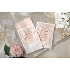 Pink Rustic Garden Laser Cut Pocket - Wedding invitation - 40