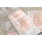 Pink Rustic Garden Laser Cut Pocket - Wedding invitation - 41