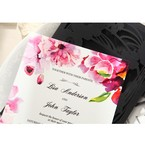Purple Laser Cut Frame Pocket - Wedding invitation - 77