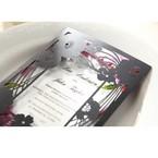 Purple Laser Cut Frame Pocket - Wedding invitation - 80