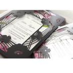 Purple Laser Cut Frame Pocket - Wedding invitation - 84