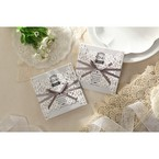 Silver/Gray Elagant Laser Cut Wrap - Wedding invitation - 35