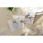 Silver/Gray Elagant Laser Cut Wrap - Wedding invitation - 37