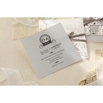 Silver/Gray Elagant Laser Cut Wrap - Wedding invitation - 38