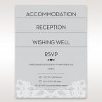 Silver/Gray Elagant Laser Cut Wrap - Wedding invitation
