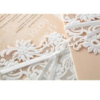 Beige White Laser Cut Wrap with Ribbon - Wedding invitation - 79