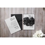 White Black Laser Cut Wrap with Ribbon - Wedding invitation - 12