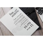 White Black Laser Cut Wrap with Ribbon - Engagement Invitations - 39