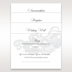 White Black Laser Cut Wrap with Ribbon - Wedding invitation