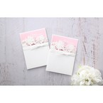 Pink Laser Cut Floral Half Pocket - Wedding invitation - 36