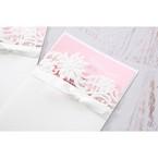 Pink Laser Cut Floral Half Pocket  - Wedding invitation - 37