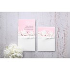 Pink Laser Cut Floral Half Pocket - Wedding invitation - 38