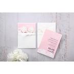 Pink Laser Cut Floral Half Pocket - Wedding invitation - 43