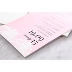 Pink Laser Cut Floral Half Pocket - Wedding invitation - 45