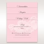 Pink Laser Cut Floral Half Pocket - Wedding invitation