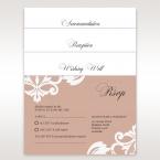 White Elegant Laser Cut Half Pocket with a Bow - Wedding invitation